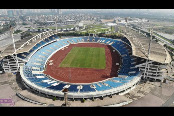 Sân Vận Động Mỹ Đình - SVĐ cấp quốc gia, có sức chứa hơn 40.000 chỗ, lớn thứ nhì Việt Nam