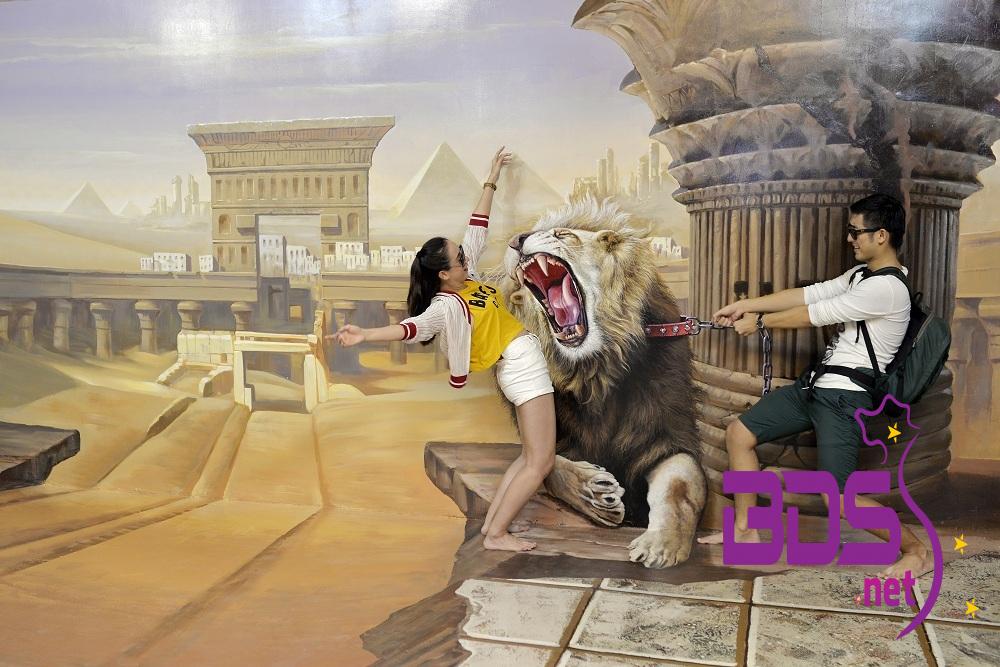 Không gian Egyption khá sống động