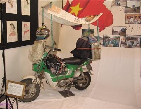 Chiếc Chaly hiện vật trưng bày
