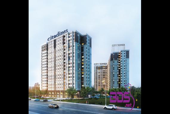 City Tower - Thiết kế tiêu chuẩn Hàn Quốc tại Bình Dương