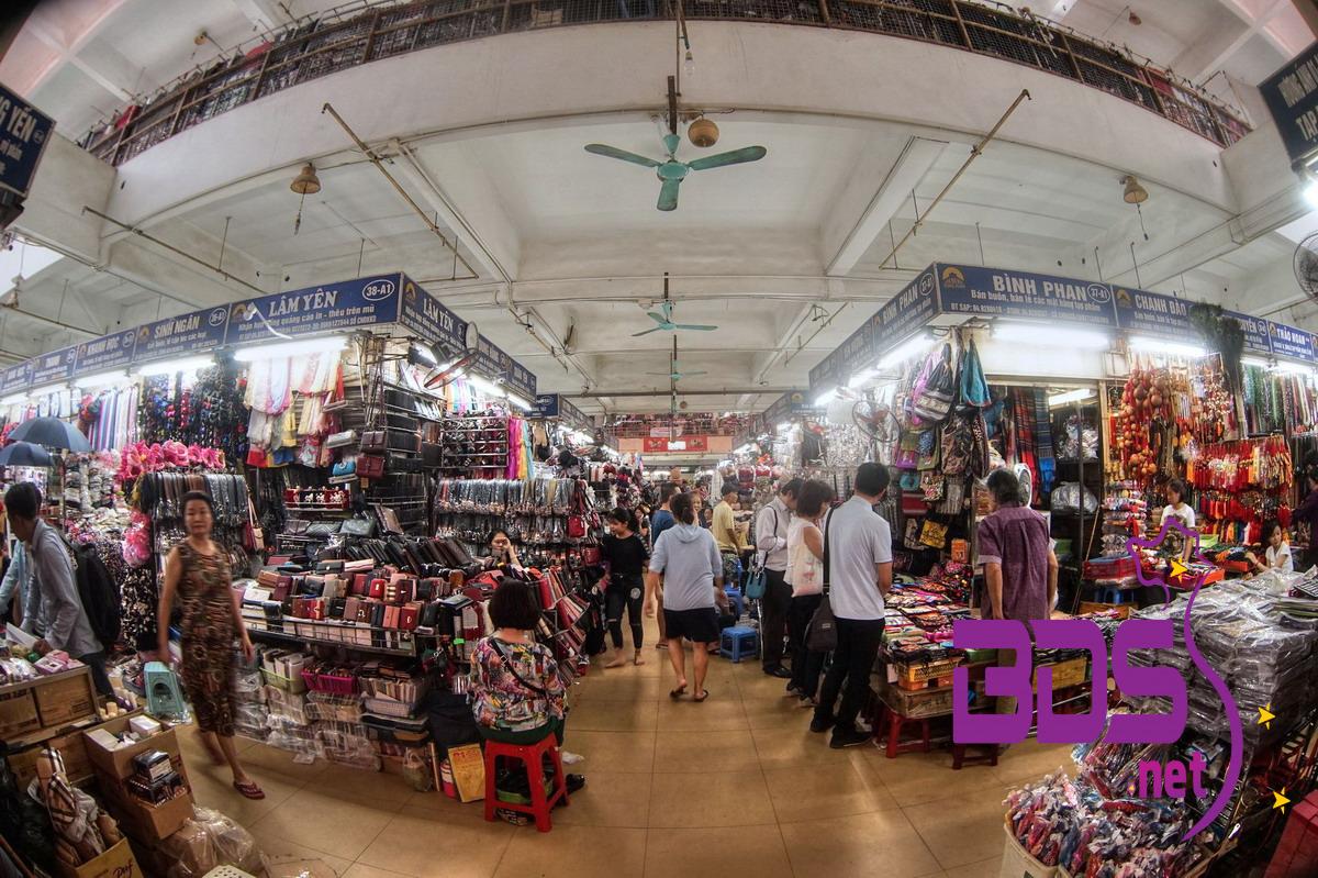 Các gian hàng trong chợ