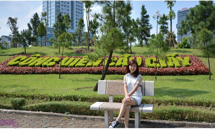 Check in công viên Cầu Giấy