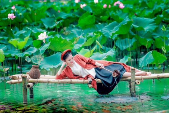 Đầm sen Quang Châu - Thỏa sức ngắm những hồ, đầm sen ngút tầm mắt