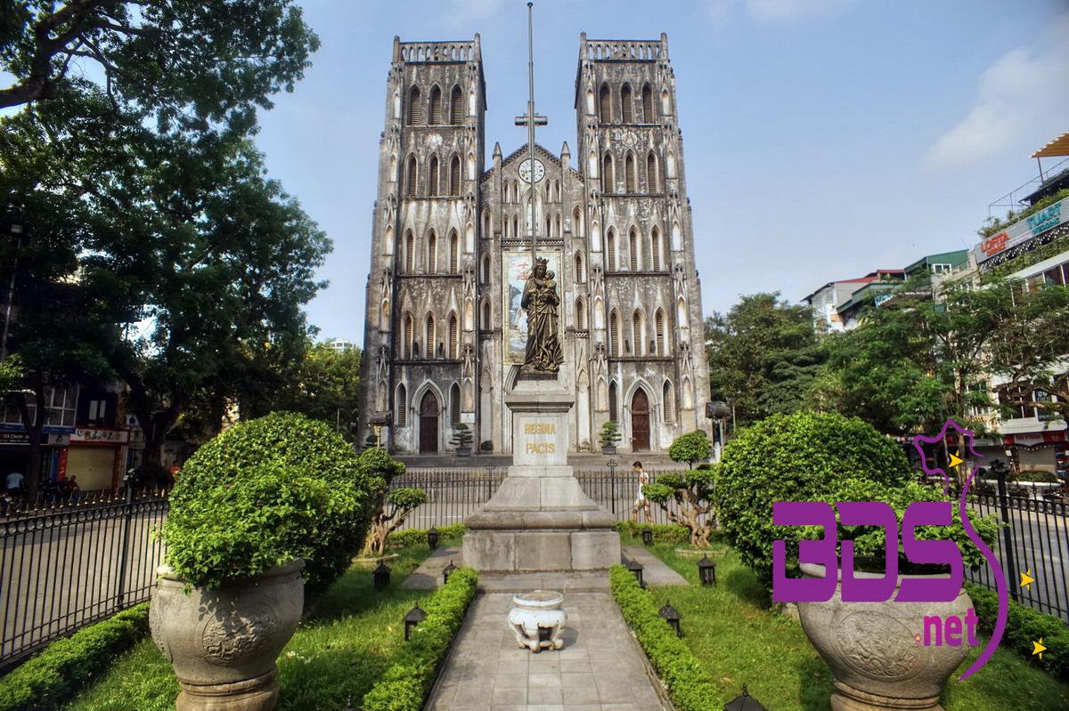 Nhà Thờ Lớn Hà Nội - Mang hơi hướng kiến trúc Đông Dương với vẻ cổ kính nhưng không kém phần lãng mạn